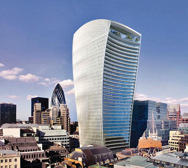 Walkie Talkie Skyscraper in London Melts Jaguar Car