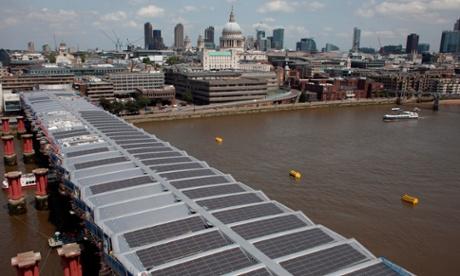 London's New Solar-powered Blackfriars Rail Station
