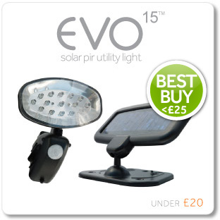 Evo 15 Solar PIR Utility light