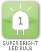 1 Super Bright LED Bulb