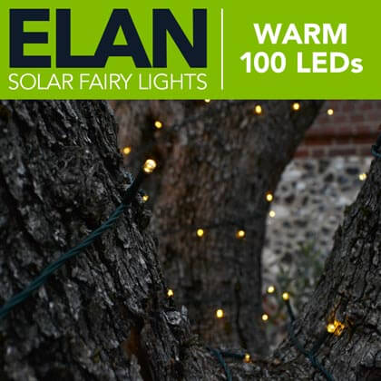 Elan Solar Fairy Lights - Warm White 100 LEDs