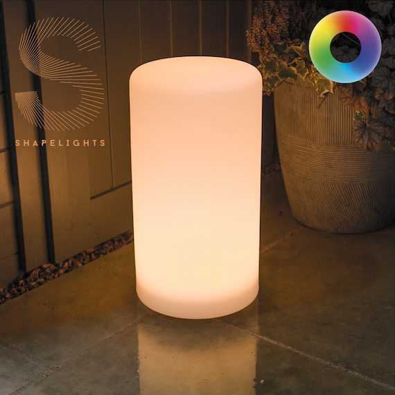 ShapeLights Indoor & Outdoor USB Solar Powered Mood Light - Cylinder