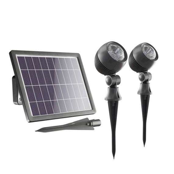 Globe Solar Spotlights (Set Of 2)