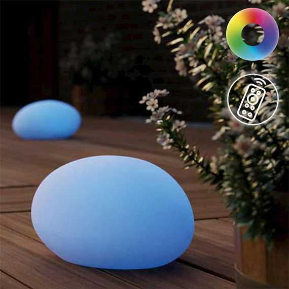 Shimmer Solar Glow Stone Pebble Mood Light