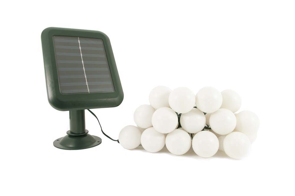 Everbright Solar Party Lights - 20 Multicoloured Balls