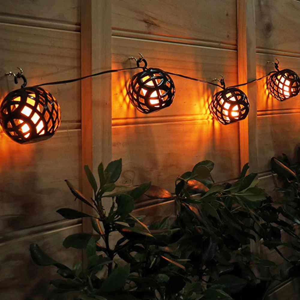 Elan Solar Flame Lanterns (Set of 8)