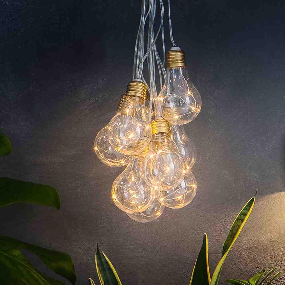 Lumify Usb Solar Vintage Bulb Lights Set Of 10 Solar Lights