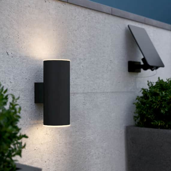 Chester Up & Down Solar Wall Light - Anthracite Edition