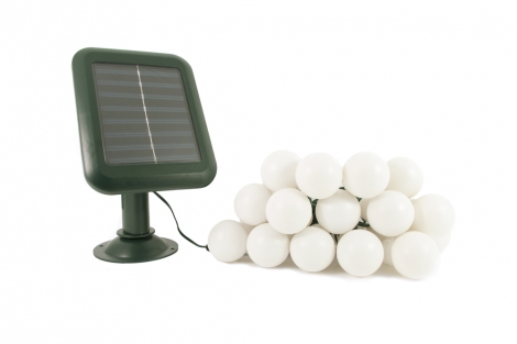 Everbright Solar Party Lights  - 20 White Balls