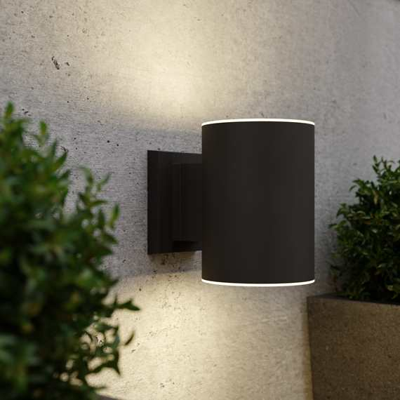 Grantham Up & Down Solar Wall Light