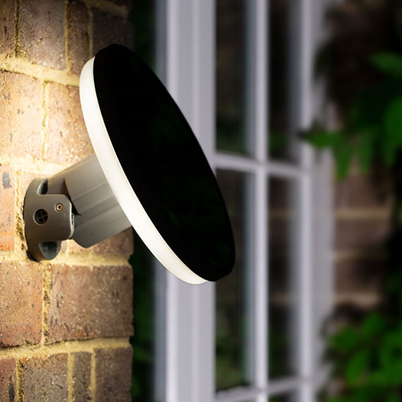 Halo Solar Wall Light