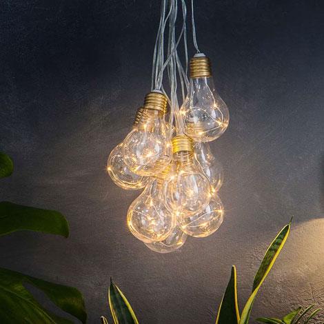 Lumify USB Solar Vintage Bulb Lights - Set Of 10