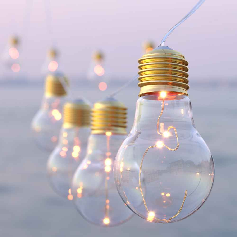 Lumify USB Solar Vintage Bulb Lights - Set Of 20