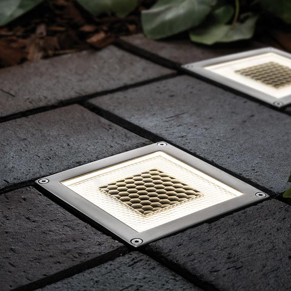 Onyx DualWhite Solar Half Brick Light - Set of 2