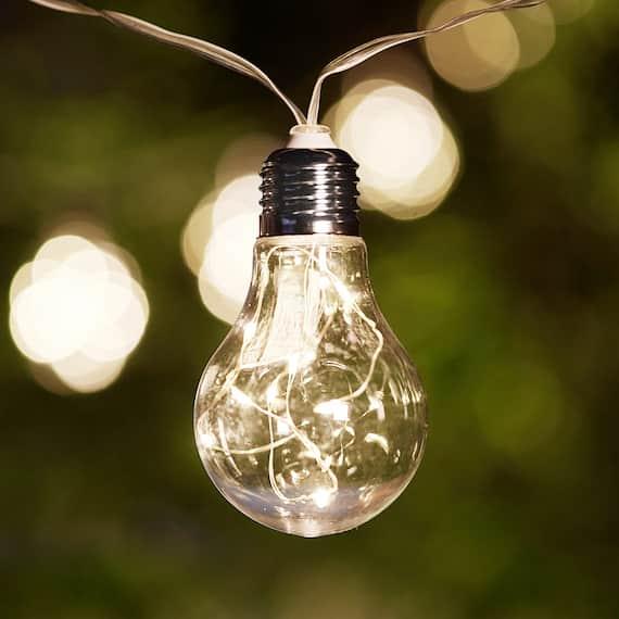 Madison Solar Vintage Bulb Lights - Set Of 10
