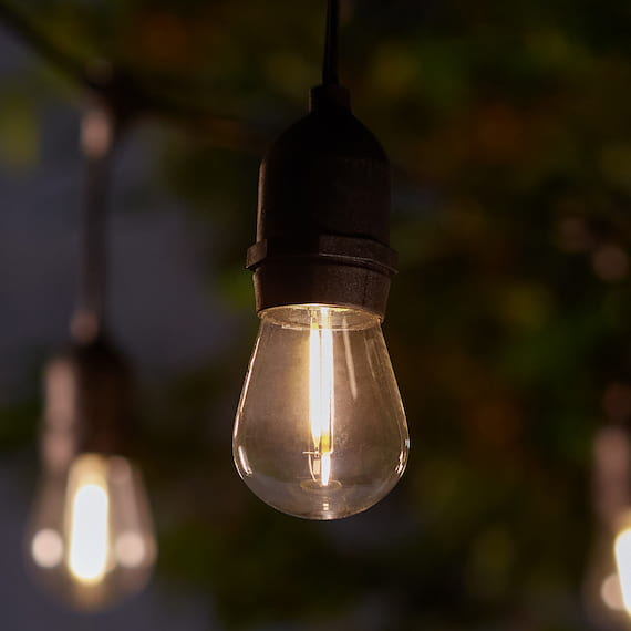 Madison Solar Drop Bulb Lights - Set Of 10