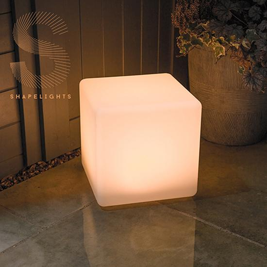 ShapeLights Indoor & Outdoor USB Solar Powered Mood Light - Cube