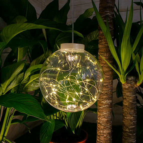 Sparkle Hanging Solar Ball Light