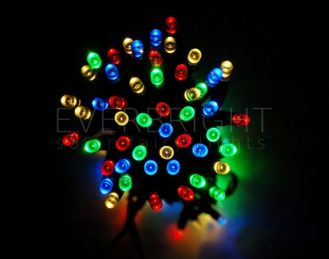 Everbright Solar Fairy Lights - Multi 50 LEDs
