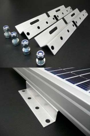 100mm Solar Panel Brackets - Z Shaped