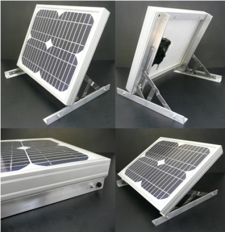 how to build a solar panel stand