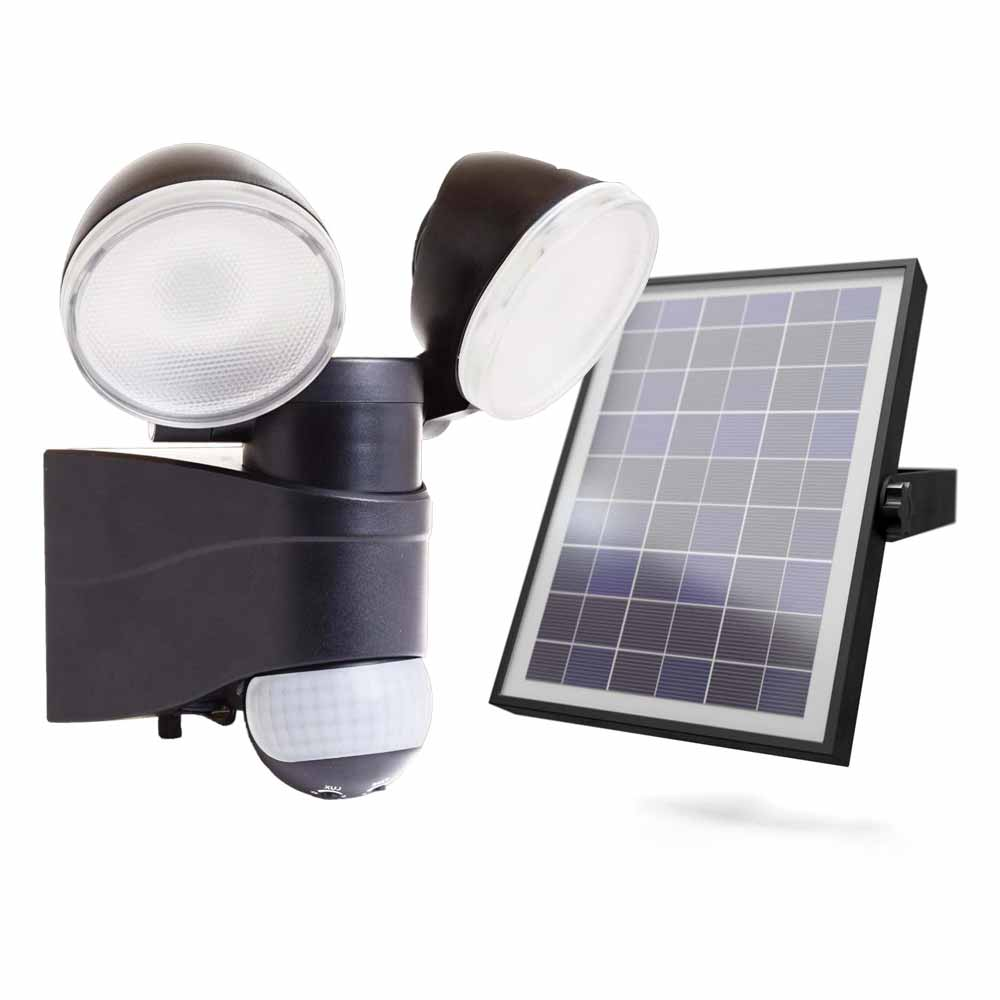 Shield Twin Solar PIR Light