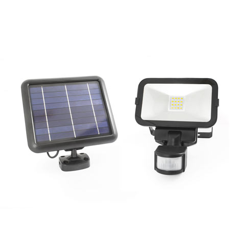 Guardian Solar Powered Outdoor Security Floodlight