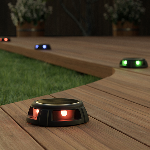 Tapdance Solar Decking Lights (Set Of 2 RGB)