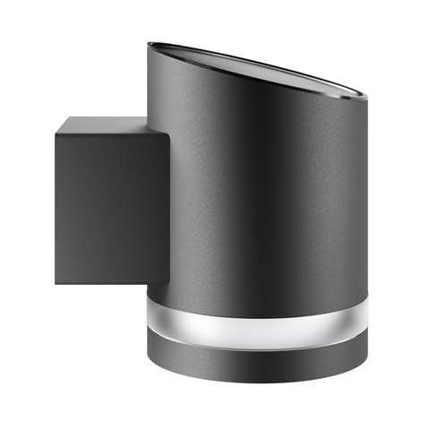Truro Solar Wall Light - Anthracite Edition