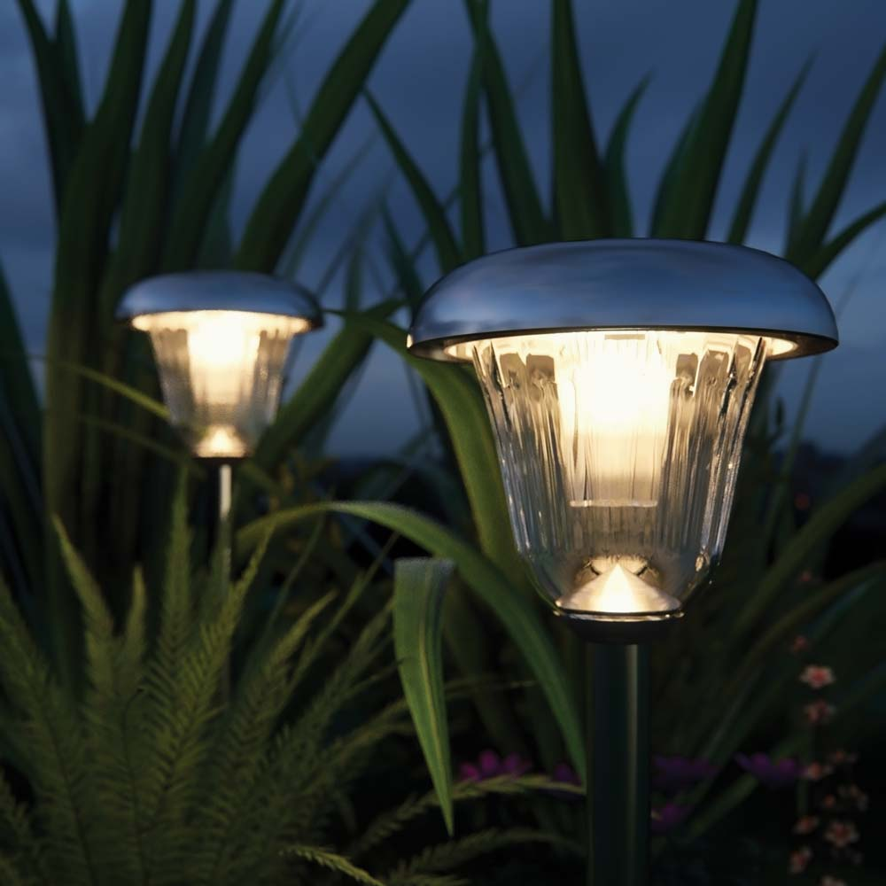 Tunbridge deluxe solar garden lights set of 2 solar for Garden lights