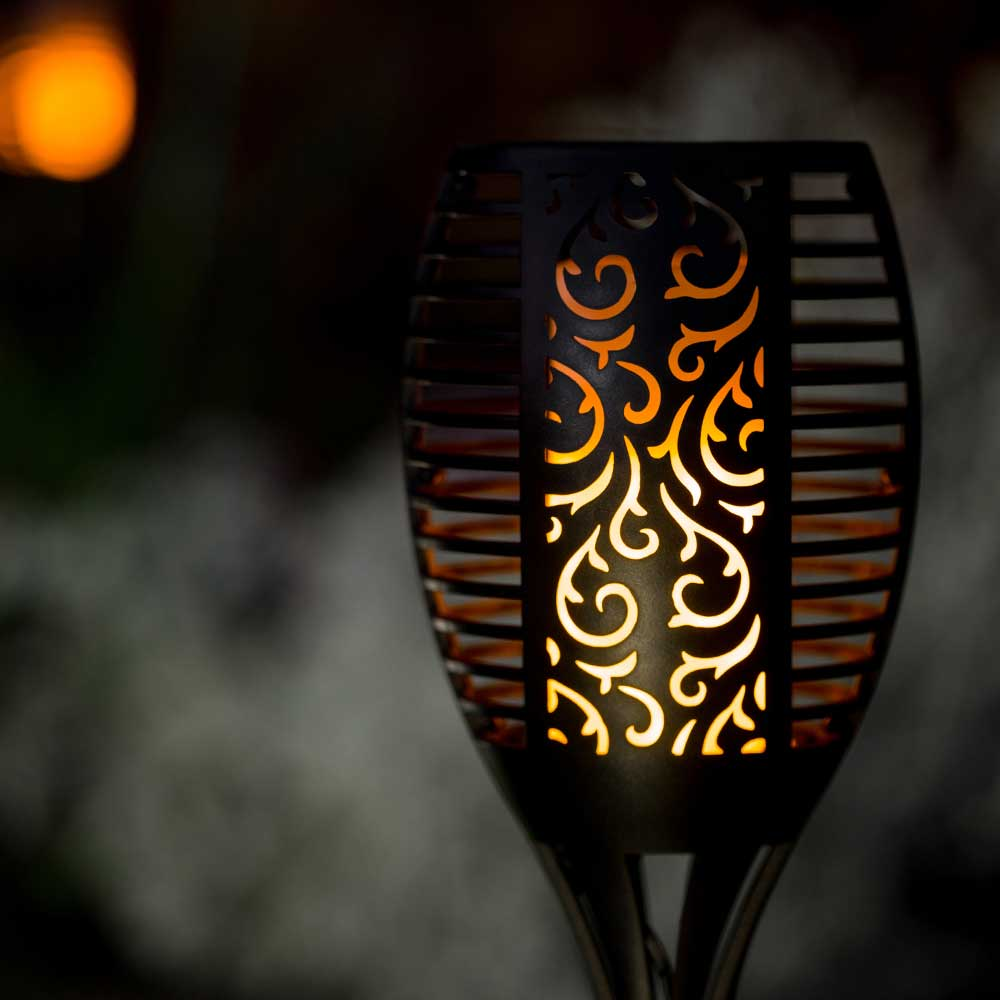 Trueflame solar torch light with flickering flame solar lights perfect for marking borders flower beds and paths the trueflame solar torch light is fully automatic wireless and completely solar powered aloadofball Images