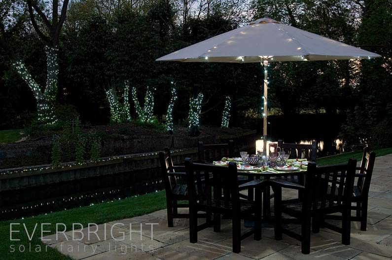Everbright Solar Fairy Lights White 100 Leds