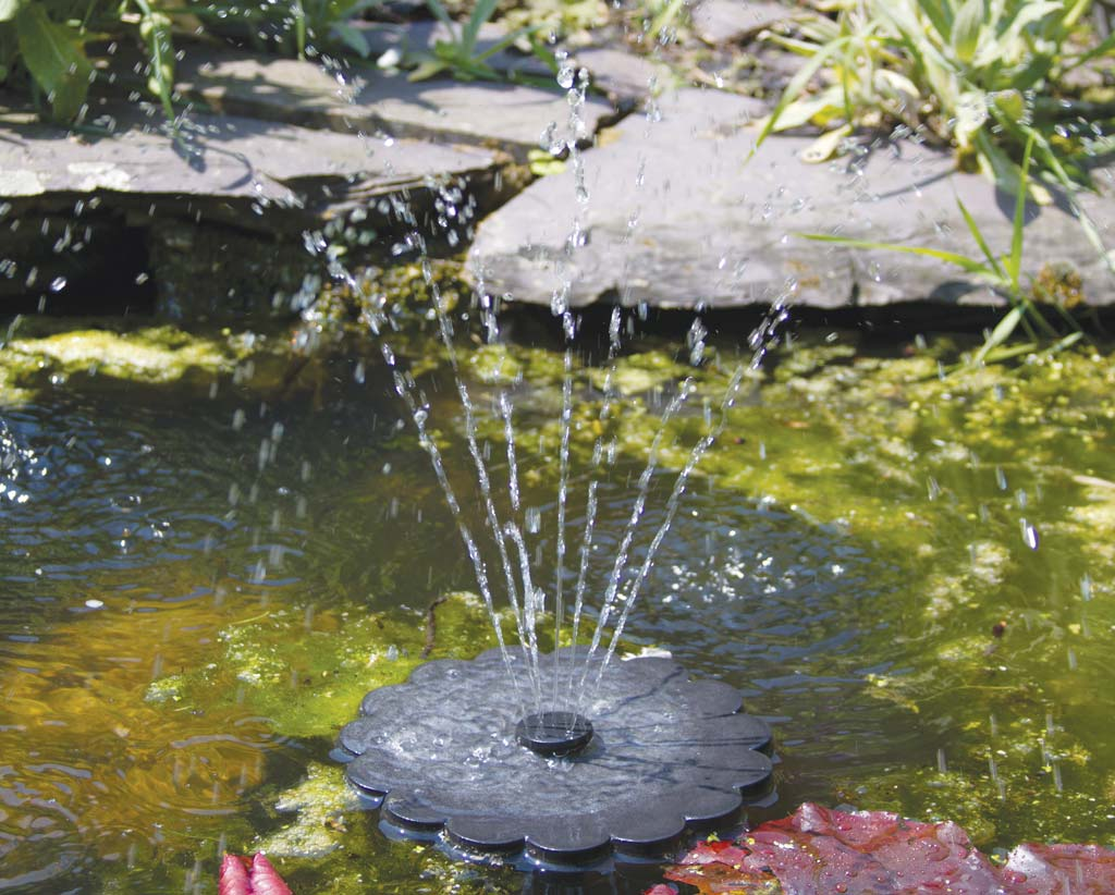 cascade kiwi solar garden with smart fountains brown ceramic p finish and rustic fountain