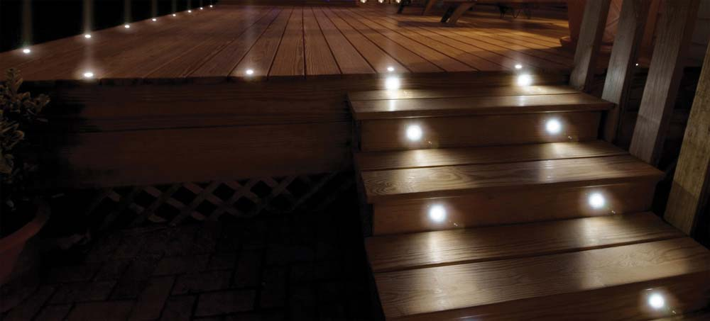Edinburgh solar stainless steel deck lights for Balcony lights