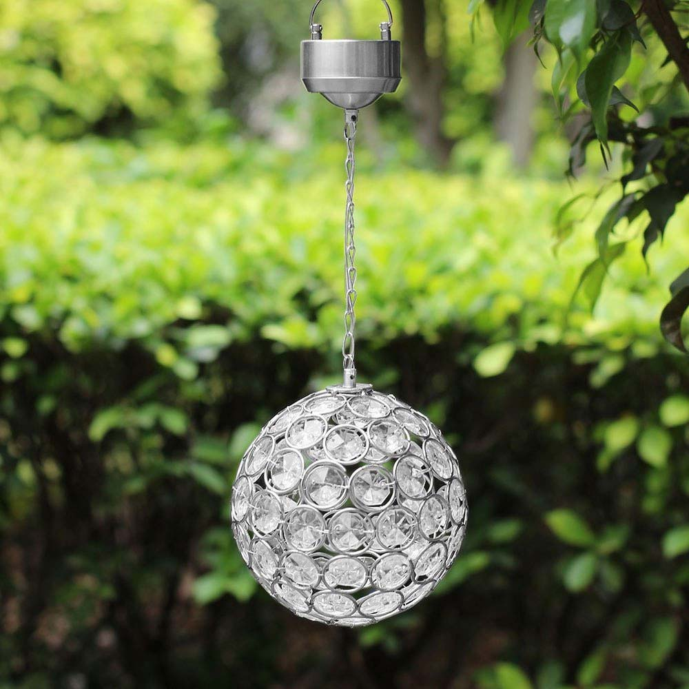 Aria solar hanging crystal ball light workwithnaturefo