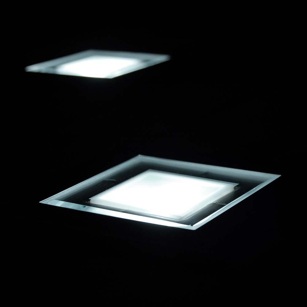 Set Of 4 Solar Square Decking Lights