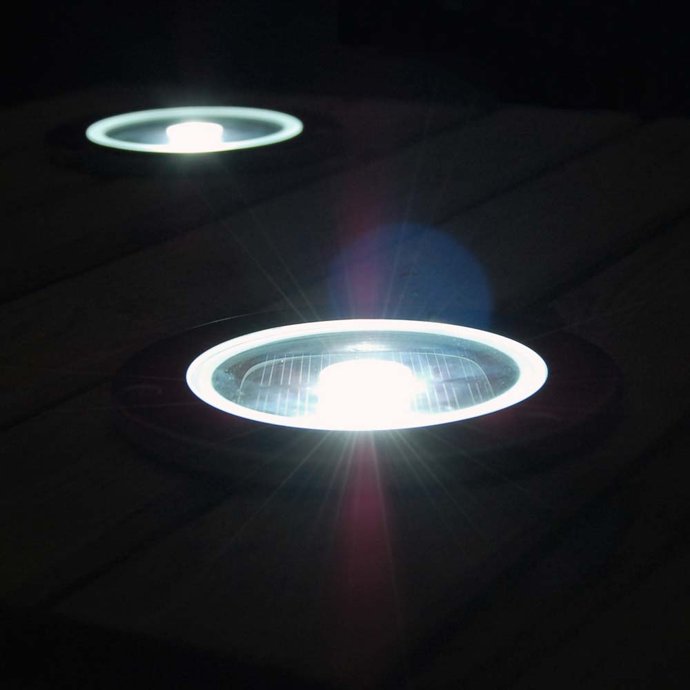 Set of 4 solar round decking lights see all 44 reviews mozeypictures Gallery