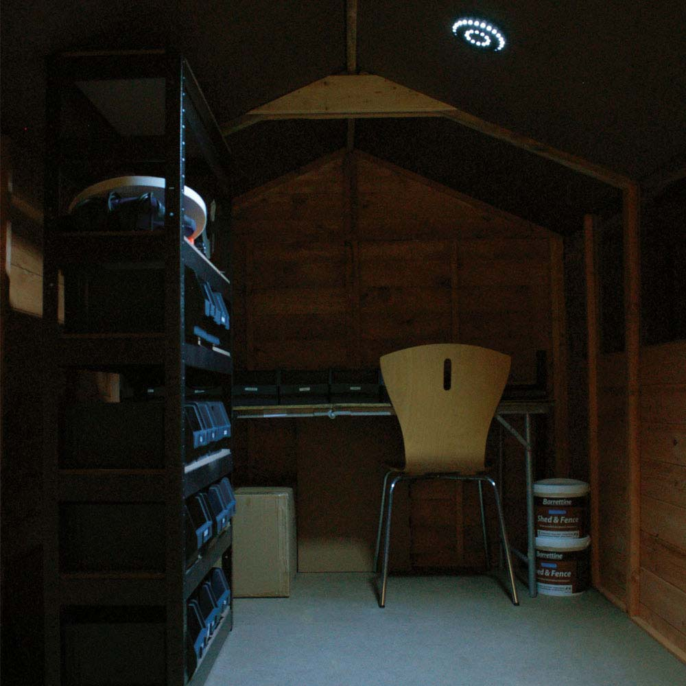 how to light a shed or outbuilding using solar powered lights