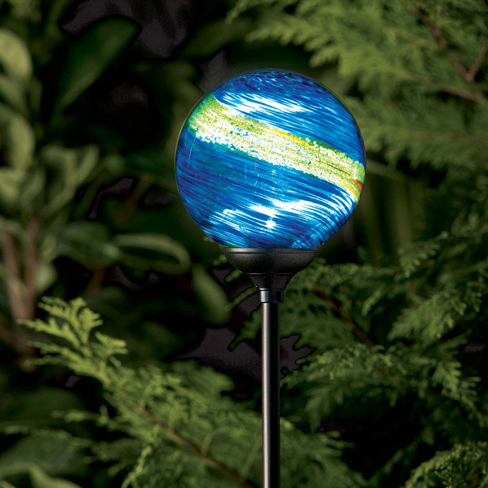 murano solar garden globe midnight. Black Bedroom Furniture Sets. Home Design Ideas