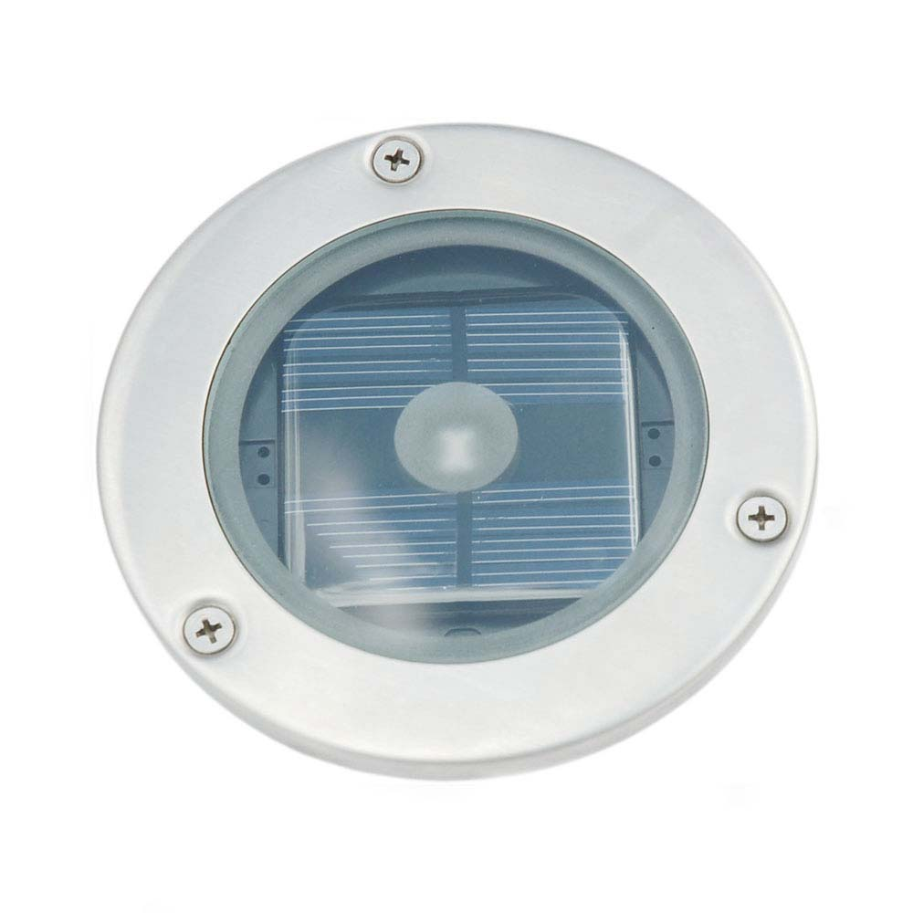 Solar round decking light aloadofball Image collections