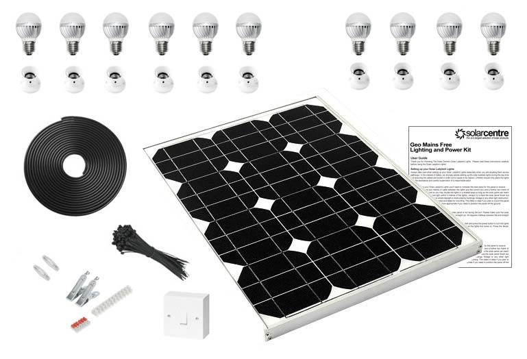 sc 1 st  The Solar Centre & Geo 5 - Mains Free Solar LED Lighting Kit