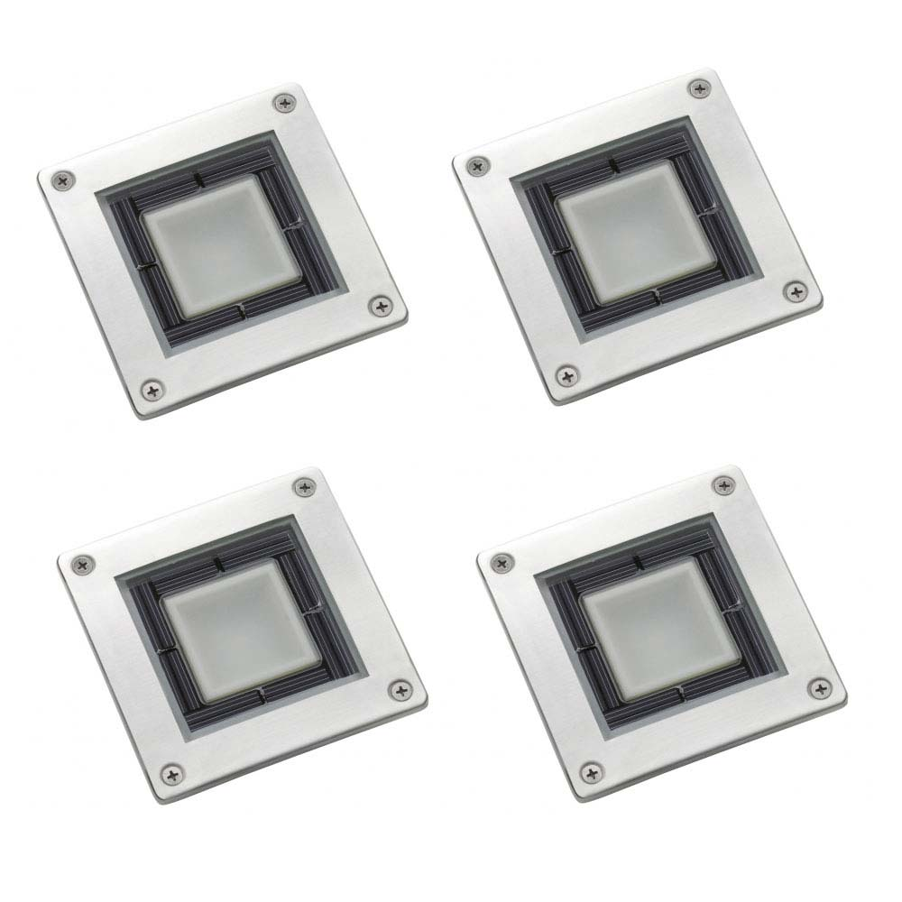 Set of 4 solar square decking lights mozeypictures Gallery