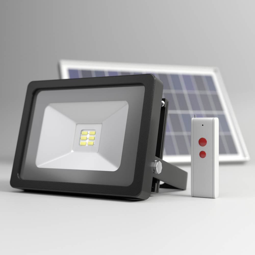 EVO SMD Remote Controlled Solar Floodlight
