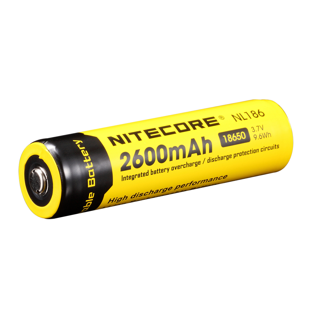 Nitecore 18650 2600mah Rechargeable Battery For Lumify Usb