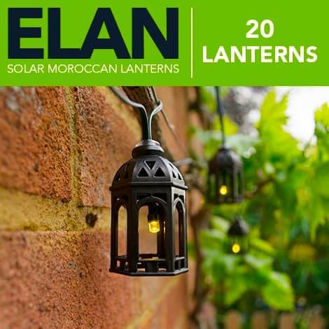 elan solar moroccan lanterns 20 leds