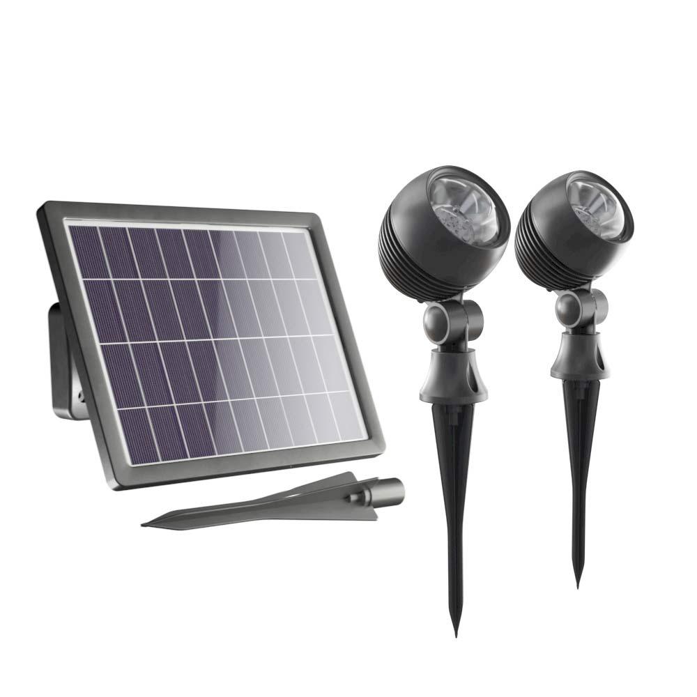Globe Solar Spotlights Set Of 2 Solar Lights Amp Solar