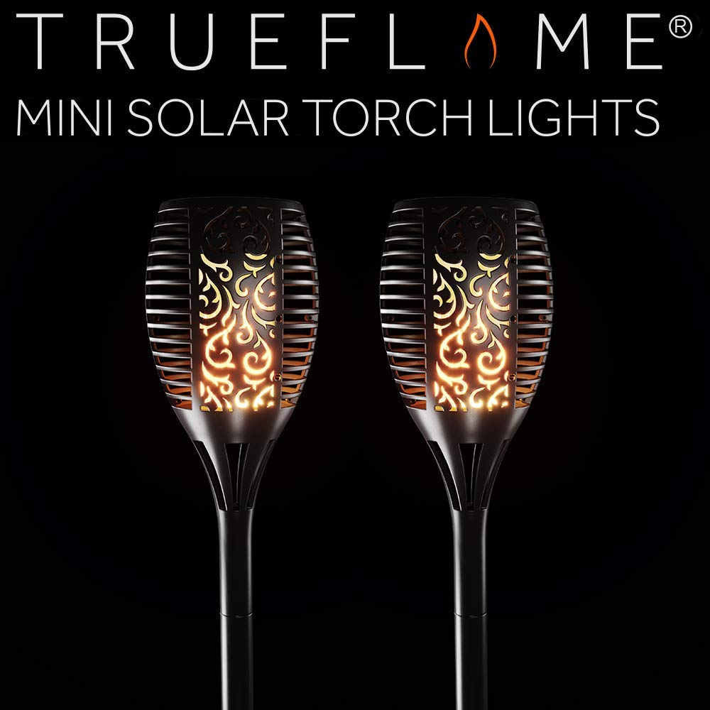 TrueFlame Mini Solar Torch Light - 2 Pack