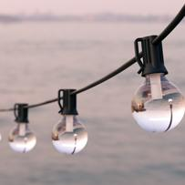 Falmouth USB Solar Festoon Lights (Set Of 25 Glass Bulbs)