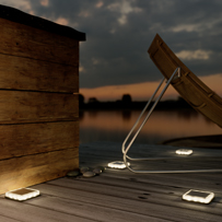 Lincoln Solar Decking Light