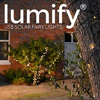Lumify USB Solar Fairy Lights - Warm White 100 LEDs